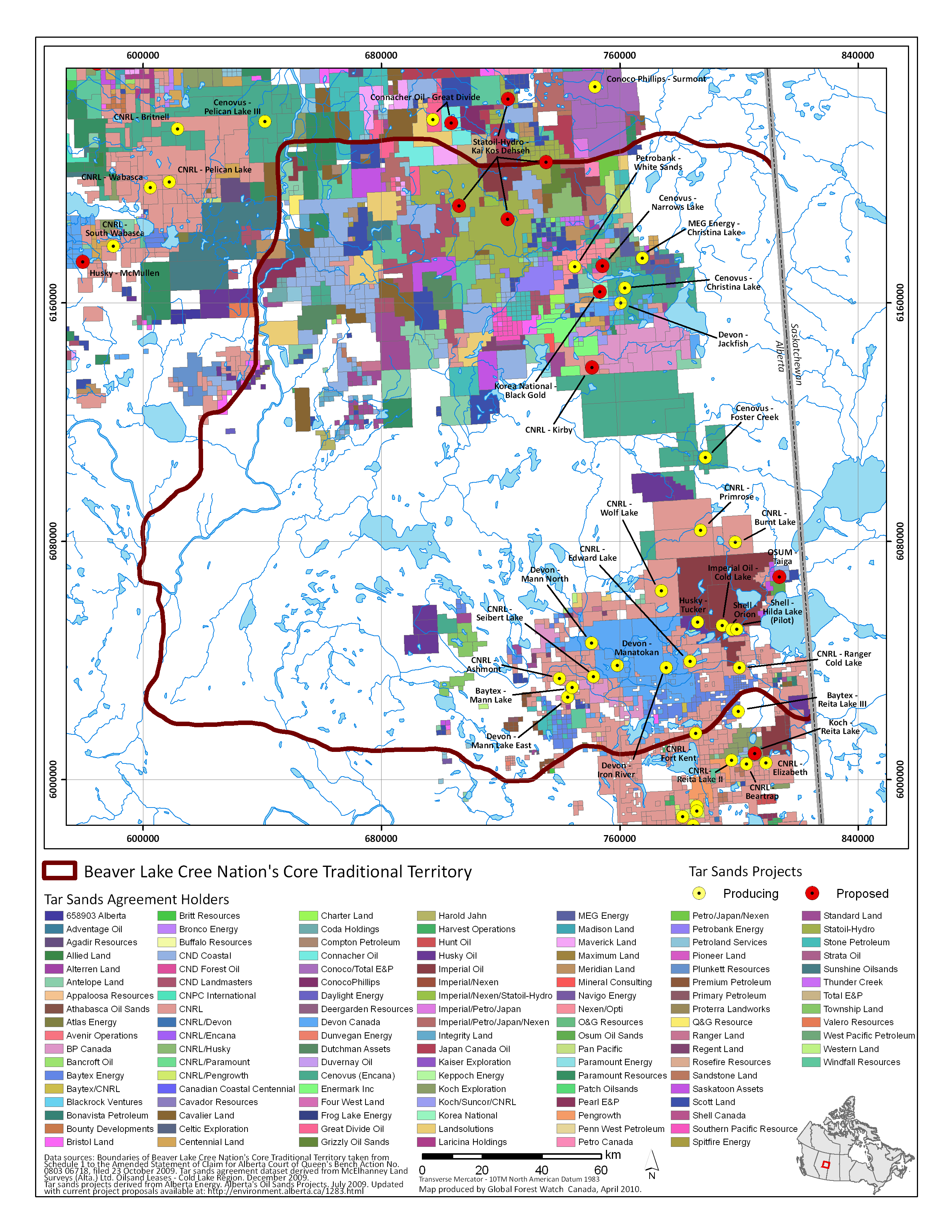 Athabasca Oil Sands Map Alberta Oil Sands Map